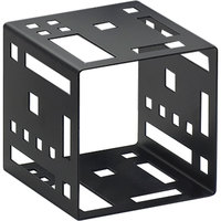 Cal-Mil 1607-7-13 7 inch Black Steel Squared Cube Riser