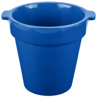 Tablecraft CW1440CBL 1.75 Qt. Round Cobalt Blue Condiment Crock / Bowl