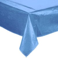 72 inch x 72 inch Blue Vinyl Table Cover with Flannel Back