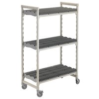 Cambro CPMU244875DRPKG Camshelving Premium Speckled Gray Drying Rack Cart 24 inch x 48 inch x 75 inch