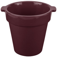 Tablecraft CW1440 1.75 Qt. Round Maroon Speckle Condiment Crock / Bowl