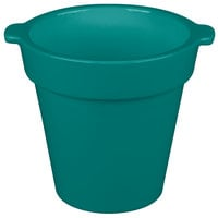 Tablecraft CW1440 1.75 Qt. Round Metallic Green Condiment Crock / Bowl