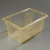 Carlisle 10612C22 StorPlus Yellow Food Storage Box - 18 inch x 12 inch x 9 inch