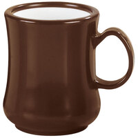 Carlisle 800401 8 oz. Brown Diablo Mug - 36 / Case