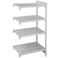 Cambro CPA214872V4480 Camshelving® Premium 4 Shelf Vented Add On Unit - 21 inch x 48 inch x 72 inch
