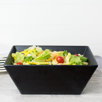 American Metalcraft FSMEL117 Endurance 228 oz. Square Melamine Serving Bowl - Black Faux Slate
