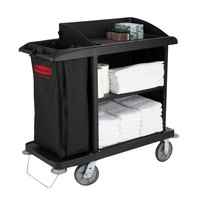Rubbermaid FG619000BLA Compact Housekeeping Cart
