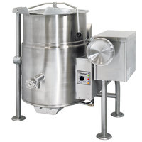 Cleveland KGL-25-T Natural Gas 25 Gallon Tilting 2/3 Steam Jacketed Kettle - 90,000 BTU