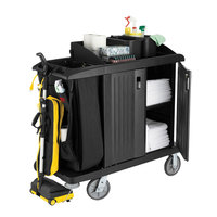 Rubbermaid 6192 Classic Compact Housekeeping Cart with Doors (FG619200BLA)