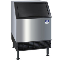 Manitowoc UY-0240W NEO 26 inch Water Cooled Undercounter Half Size Cube Ice Machine with 80 lb. Bin - 120V, 212 lb.
