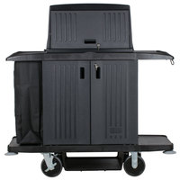 Rubbermaid FG9T1900BLA Classic Full Size Housekeeping Cart with Doors