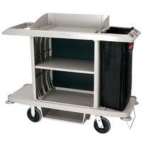 Rubbermaid 1969596 Gray Full Size Housekeeping Cart (FG618900PLAT)