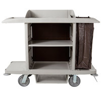 Rubbermaid 1969596 Platinum Full Size Housekeeping Cart (FG618900PLAT)