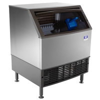 Manitowoc UY-0310W NEO 30 inch Water Cooled Undercounter Half Size Cube Ice Machine with 100 lb. Bin - 271 lb.
