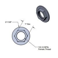 T&S 016742-45 Easy Install Center Flange Nut