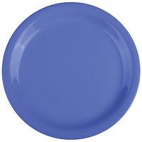 GET NP-7-PB Diamond Mardi Gras 7 1/4 inch Peacock Blue Narrow Rim Round Melamine Plate - 48/Case