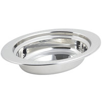 Bon Chef 5304 13 inch x 9 inch x 3 inch Stainless Steel 2 Qt. Full Size Oval Bolero Design Food Pan