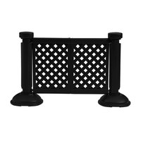 Grosfillex US962117 2 Panel Resin Patio Fence - Black