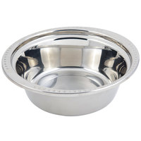 Bon Chef 5356 13 inch x 12 inch x 4 inch Stainless Steel 4 Qt. Bolero Design Casserole Food Pan