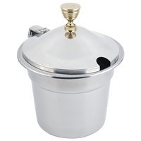 Bon Chef 5311WHC 10 5/8 inch x 8 1/4 inch Stainless Steel 7 Qt. Bolero Design Soup Tureen with Hinged Cover
