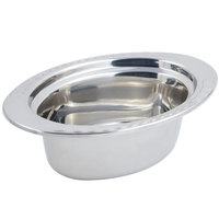 Bon Chef 5603 13 inch x 9 inch x 5 inch Stainless Steel 3.75 Qt. Full Size Oval Arches Design Food Pan