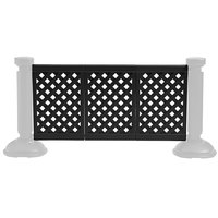 Grosfillex Us963117 3 Panel Resin Patio Fence Black