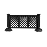 Grosfillex US963117 3 Panel Resin Patio Fence - Black