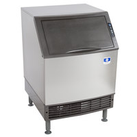 Manitowoc UY-0240A NEO 26 inch Air Cooled Undercounter Half Size Cube Ice Machine with 80 lb. Bin - 208V, 225 lb.