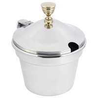 Bon Chef 5214WHC 12 inch x 8 inch Stainless Steel 11 Qt. Plain Design Soup Inset with Hinged Cover