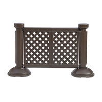 Grosfillex US962423 2 Panel Resin Patio Fence - Brown