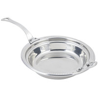 Bon Chef 5455HLSS 13 inch x 12 inch x 4 inch Stainless Steel 2.5 Qt. Casserole Laurel Design Food Pan with Long Stainless Steel Handle