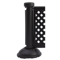 Grosfillex US960117 Resin Fence Post and Interlocking Base - Black