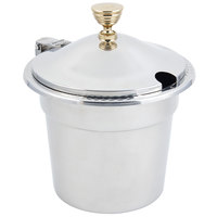 Bon Chef 5411WHC 7 Qt. Stainless Steel Laurel Design Soup Tureen with Hinged Cover