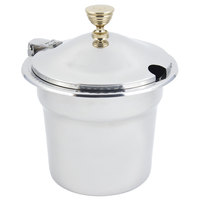 Bon Chef 5611WHC 10 5/8 inch x 8 1/4 inch Stainless Steel 7 Qt. Arches Design Soup Tureen with Hinged Cover
