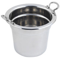 Bon Chef 5211HRSS 10 5/8 inch x 8 1/4 inch Stainless Steel 7 Qt. Plain Design Soup Tureen with Round Stainless Steel Handles