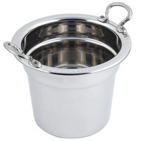 Bon Chef 5411HRSS 7 Qt. Stainless Steel Laurel Design Soup Tureen with Round Stainless Steel Handles