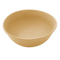 Elite Global Solutions ECO72 Greenovations 1.13 Qt. Rattan-Colored Round Bowl - 6/Case