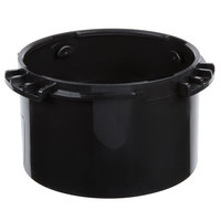 San Jamar X24MT Black Dispenser Mounting Ring for 3 3/4 inch to 4 3/4 inch Diameter Cup or Lid Dispensers