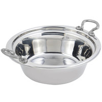 Bon Chef 5256HRSS 13 inch x 12 inch x 4 inch Stainless Steel 4 Qt. Plain Design Casserole Food Pan with Round Stainless Steel Handles