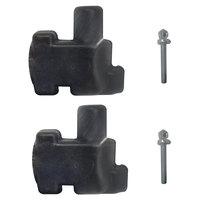 Grosfillex USSP0235 4 Piece Connector Pack - Black