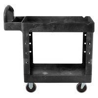 Rubbermaid FG450088BLA Black Small Two Lipped Shelf Utility Cart