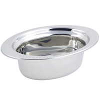 Bon Chef 5303 13 inch x 9 inch x 5 inch Stainless Steel 3.75 Qt. Full Size Oval Bolero Design Food Pan