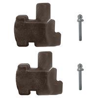 Grosfillex USSP0236 4 Piece Connector Pack - Brown