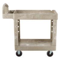 Rubbermaid FG450088BEIG Beige Small Two Lipped Shelf Utility Cart