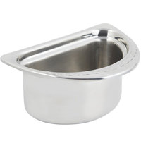 Bon Chef 5602 7 inch x 9 inch x 5 inch Stainless Steel 1 Qt. Half Size Arches Design Oval Food Pan