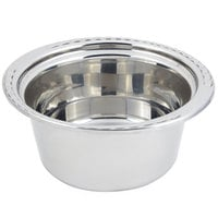 Bon Chef 5660 12 inch x 12 inch x 6 inch Stainless Steel 5 Qt. Arches Design Casserole Food Pan
