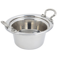 Bon Chef 5350HRSS 10 inch x 9 inch x 5 inch Stainless Steel 2 Qt. Bolero Design Casserole Food Pan with Round Stainless Steel Handles