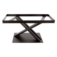 Elite Global Solutions 9 inch PC179 Rectangular Brown Metal Stand for M1020 Melamine Shelves