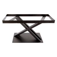 Elite Global Solutions 9 inch PC179 Rectangular Brown Metal Stand for M1020 Melamine Shelves