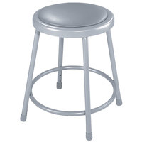 National Public Seating 6418 18 inch Gray Round Padded Lab Stool